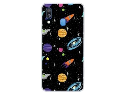 Силиконов калъф за Samsung Galaxy A40, Звезди и планети