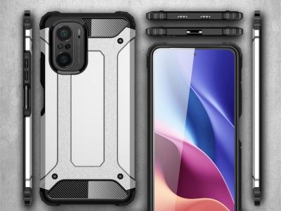 Удароустойчив калъф Armor за Xiaomi Poco F3, Сребрист