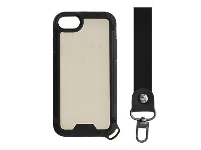 Удароустойчив калъф Shield Carbon за iPhone 7 / iPhone SE (2020), Черен