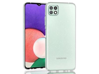 Силиконов калъф Crystal Glitter за Samsung Galaxy A22 5G, Прозрачен с бляскави частици