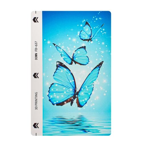 Изрязване на Фолио Протектор за телефон (Гръб), Сини пеперуди