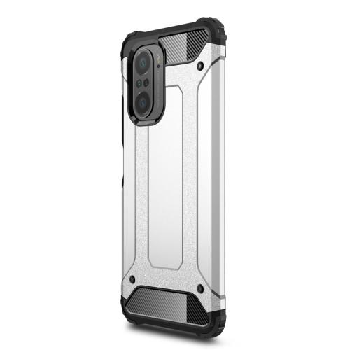 Удароустойчив калъф Armor за Xiaomi Redmi K40/Redmi K40 Pro/Redmi K40 Pro+/Mi 11i 5G/Poco F3, Сребрист