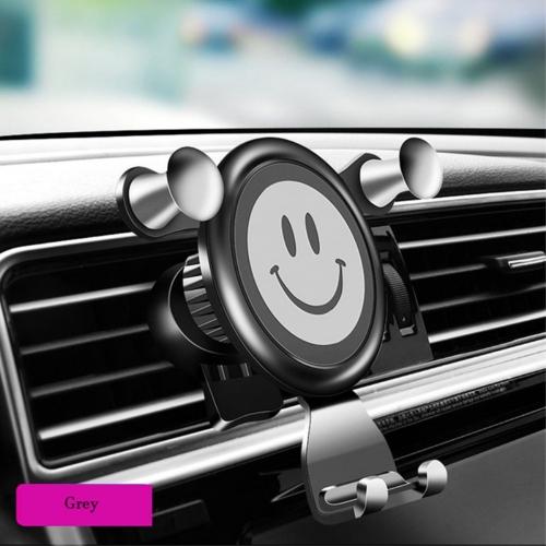Универсална Поставка за кола RUNDONG Smile Face, Сив