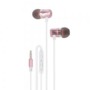 Слушалки с микрофон Maxlife MXEP-03,Розово Злато
