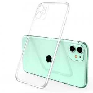 Силиконов калъф за iPhone 11, Прозрачен