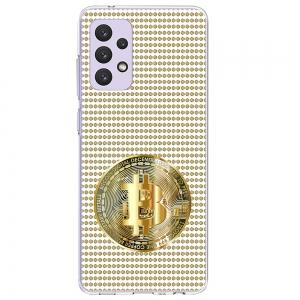 Силиконов калъф Color за Samsung Galaxy A72, Биткойн