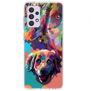 Силиконов калъф Color за Samsung Galaxy A72, Куче пъзел
