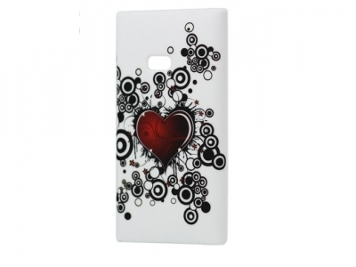 Red Heart Hard Case Cover for Nokia Lumia 900