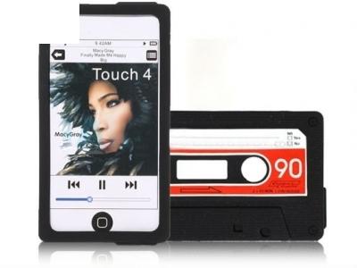 СИЛИКОНОВ ПРОТЕКТОР АУДИО КАСЕТКА ЗА iPod Touch 4 - BLACK / RED